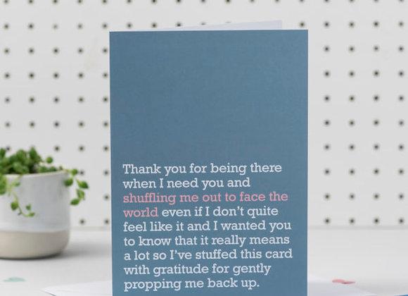 'Face The World' Cancer Card