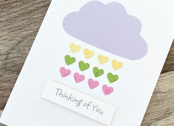 Hearts Thinking of You Cancer Card