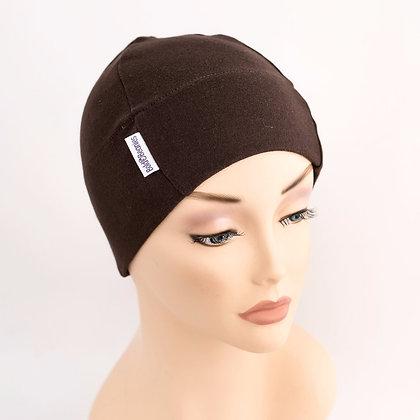 Plain Beanie Hat - Browns