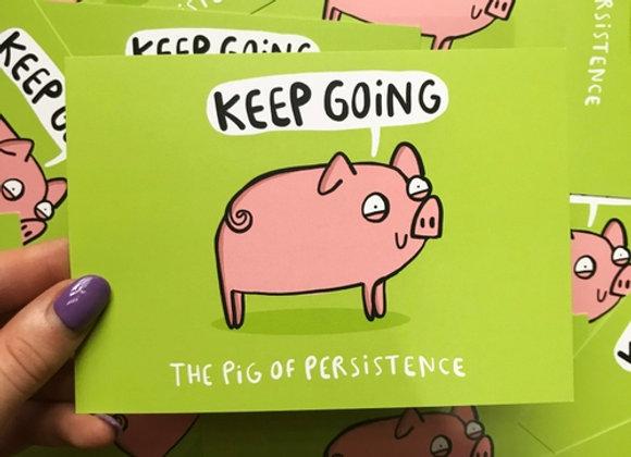 Keep Going - Positivity Postcard