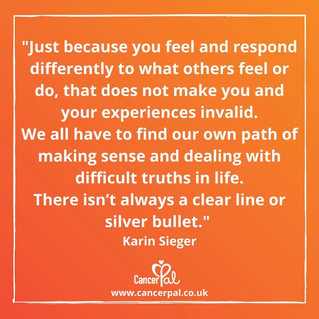 Your Feelings Are Valid #CancerTips #KarinSieger