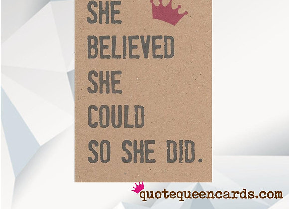 'She Believed She Could' Cancer Card