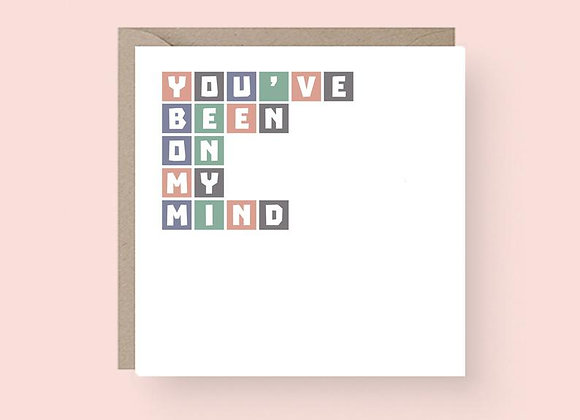 'You've Been On My Mind' Cancer Card