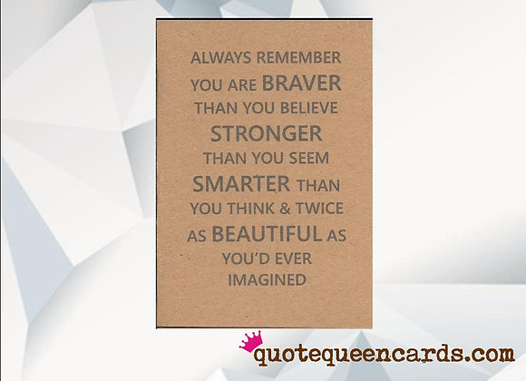 'Stronger Than You Seem' Cancer Card