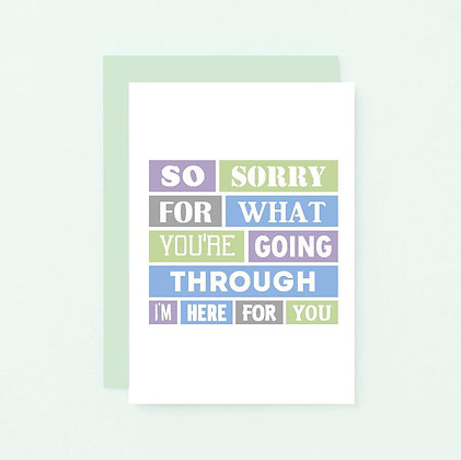 'Sorry For What You're Going Through' Cancer Card