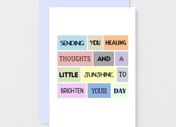 'Healing Thoughts And Sunshine' Cancer Card