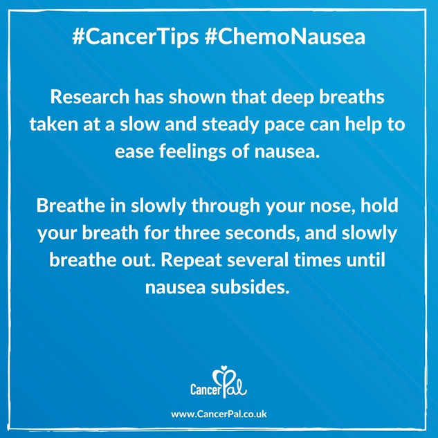 Cancer Tips Chemo Nausea Breathing