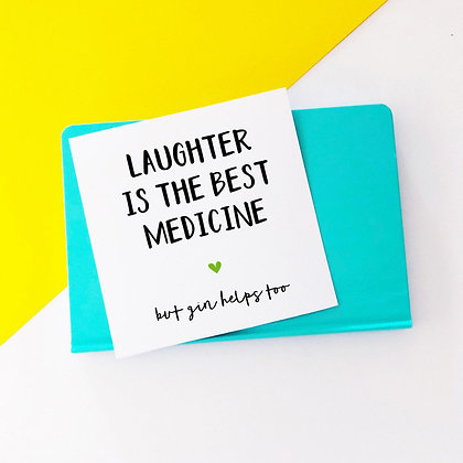 Laughter is the Best Medicine - Cancer Card