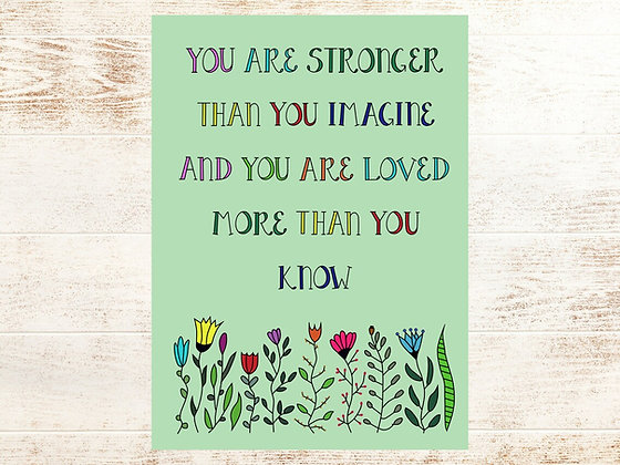 'Stronger Than You Imagine' Cancer Card