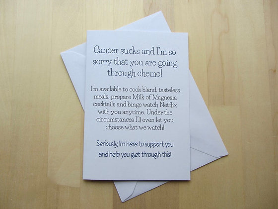 Sorry that you're going through chemo - Empathy Card