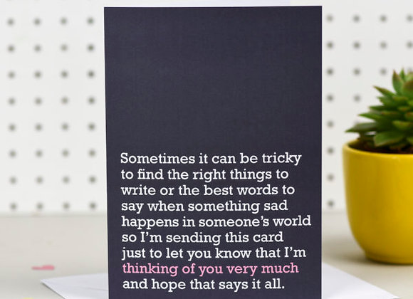 'Thinking of You Very Much' Cancer Card