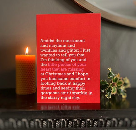 Pieces Of Your Heart That Are Missing - Christmas Card