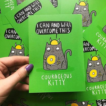 Corageous Kitty - Positivity Postcard