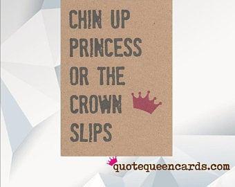 'Chin Up Princess' Cancer Card