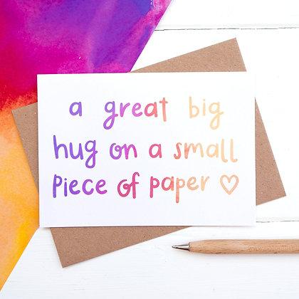 Great big hug - Empathy Card