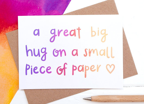Great big hug - Empathy Card