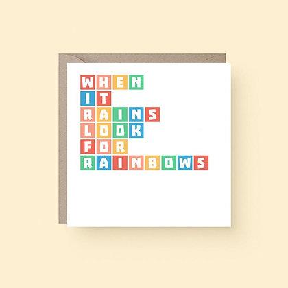 'Look For Rainbows' Cancer Card