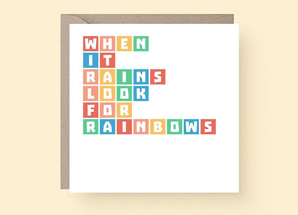 'Look For Rainbows' Cancer Card