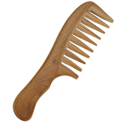 Wooden Wide Toothed Comb