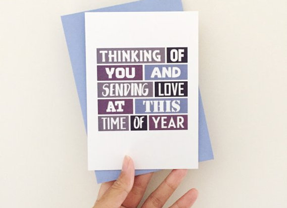 'This Time Of Year' Empathy Card