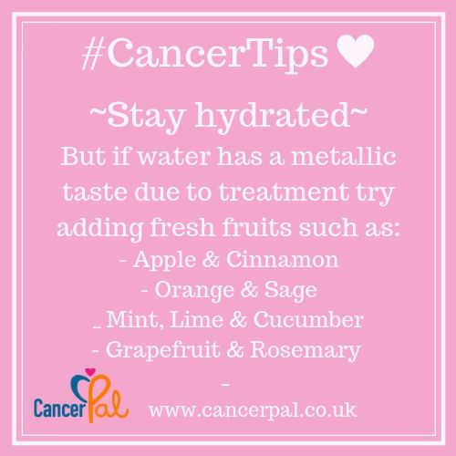 #CancerTips Stay Hydrated