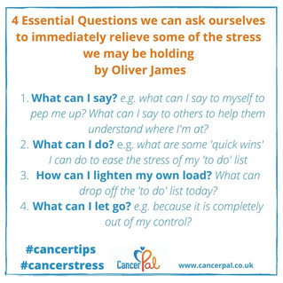 4 Essential Questions #CancerTips #CancerStress