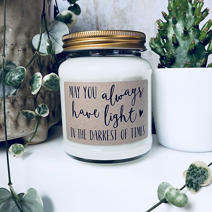 May You Always Have Light Soy Wax Candle