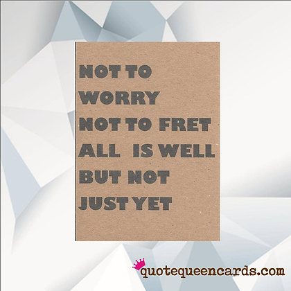 'Not to Worry' Cancer Card