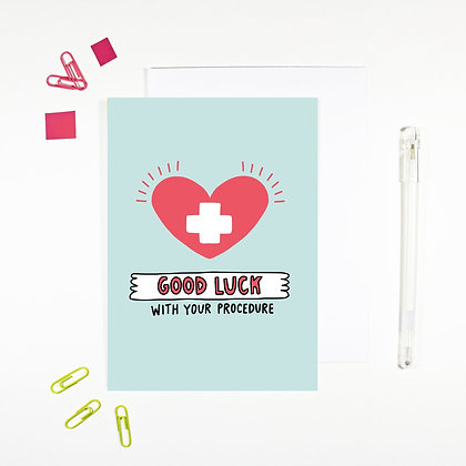 'Good Luck With Your Procedure' Cancer Card