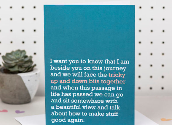 'Up And Down Bits Together' Cancer Card