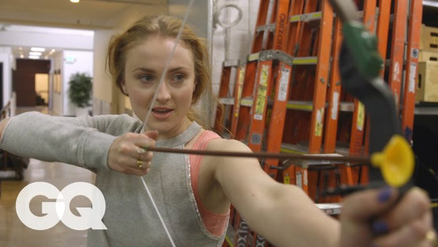 Watch Sansa Stark Discover Her Inner Katniss Everdeen