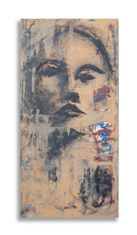 """48"""" x 24"""" on wood with 3/4"""" wood framed backing"""