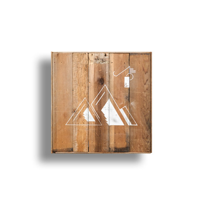 """27"""" x 27"""" box made from reclaimed wood"""