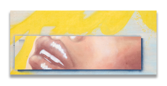 """54.5"""" x 24"""" on wood panel with 3/4"""" wood framed backing"""