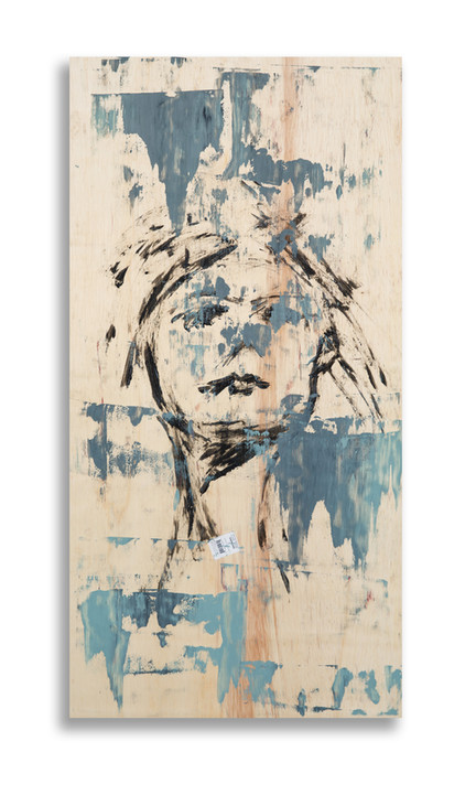 """24"""" x 48 on wood panel with 3/4"""" wood framed backing"""