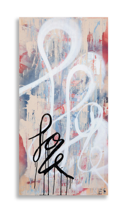 """24"""" x 48"""" on wood panel with 3/4"""" wood framed backing"""