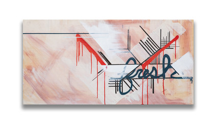 """24"""" x 48"""" on wood with 3/4"""" wood framed backing"""