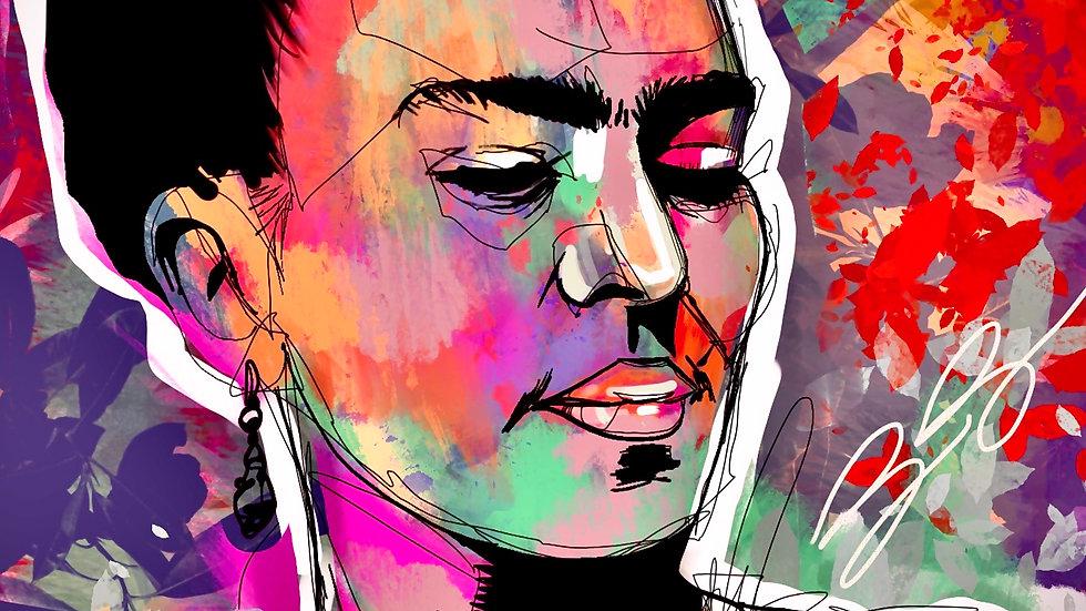 Frida Kahlo 2  12x18 print