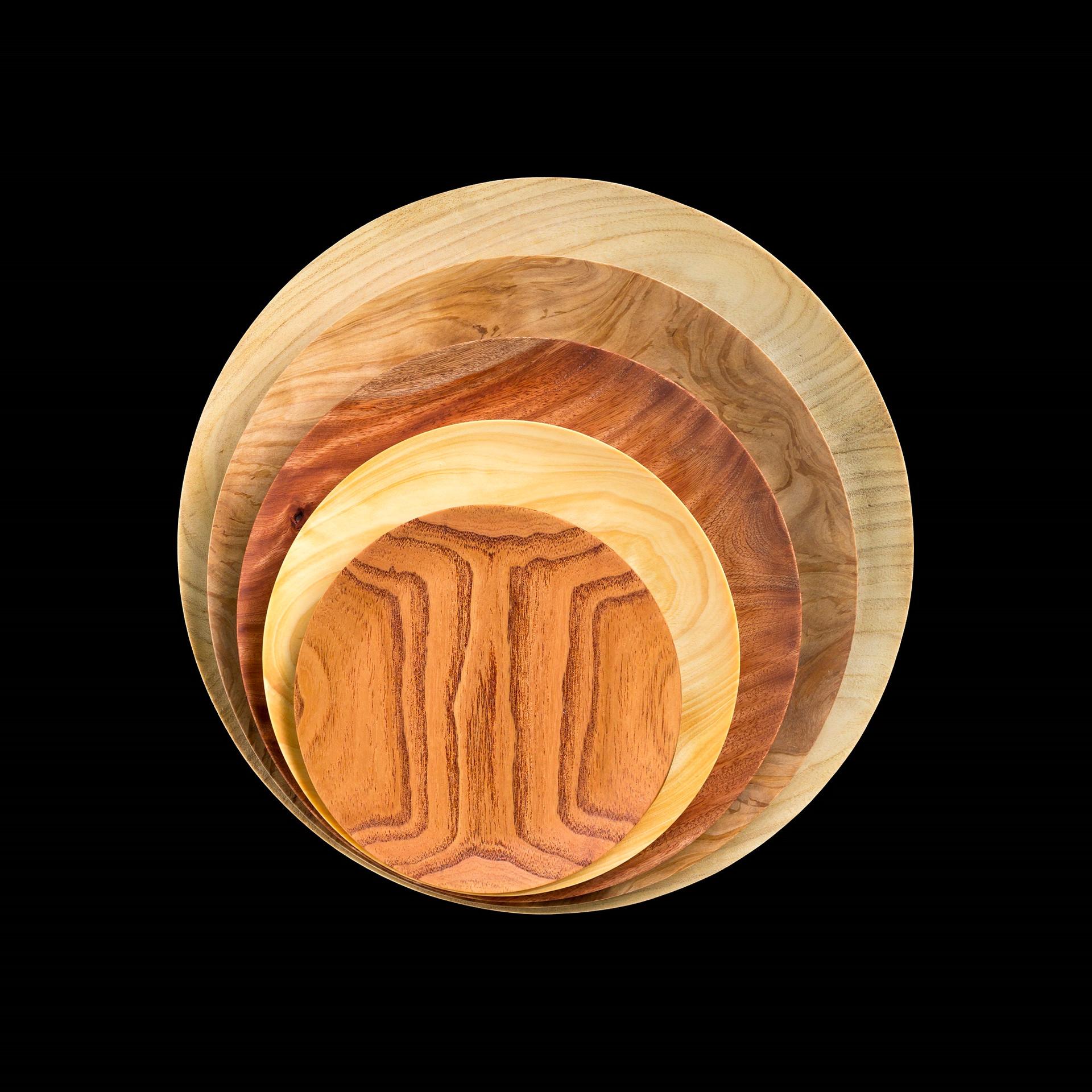Round wood dish(丸木皿)