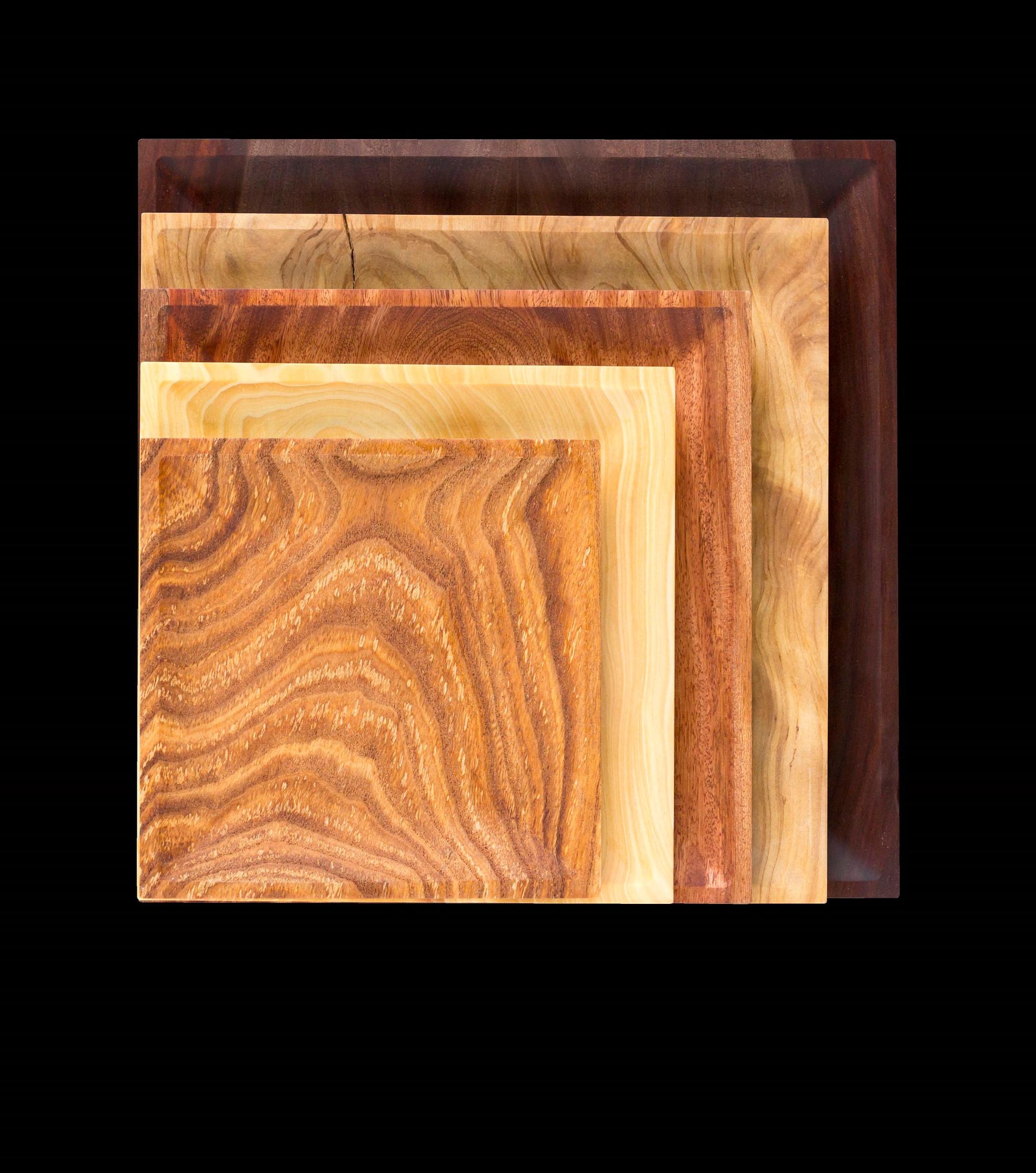 Square Wood Dish