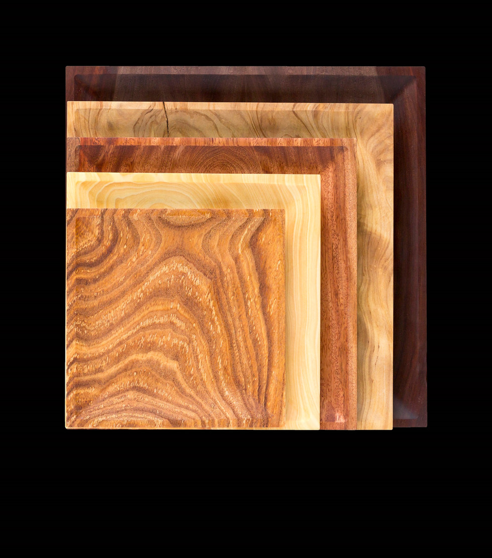 Square Wood Dish