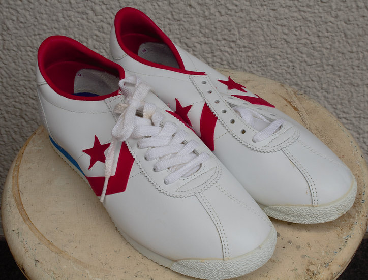 1980`s/CONVERSE /CASUAL(LEATHER)MEN`S OXFORD/US8 1/2/DEADSTOCK/オールドコンバース/デッドストック
