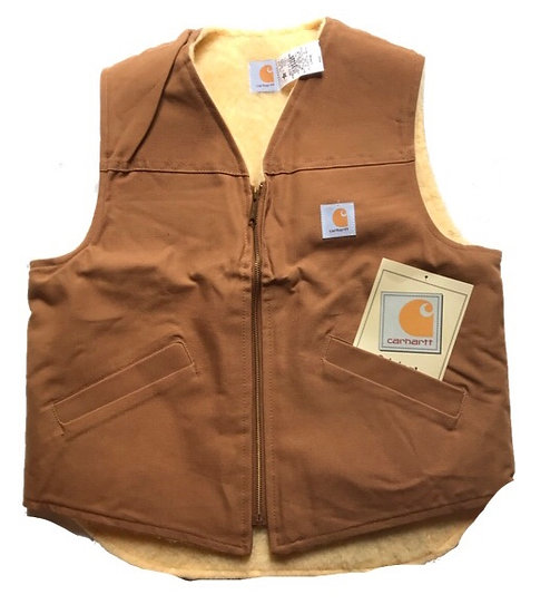 1980`s/Made in USA/Carhartt Brown Duck Vest/Deadstock/カーハートベスト/デッドストック/アメリカ製