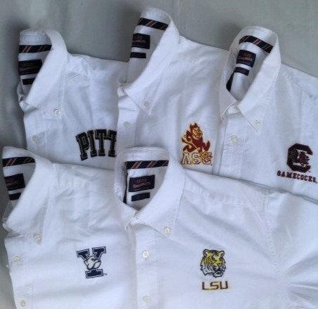 白シャツ B・Dシャツ カレッジ 刺繍