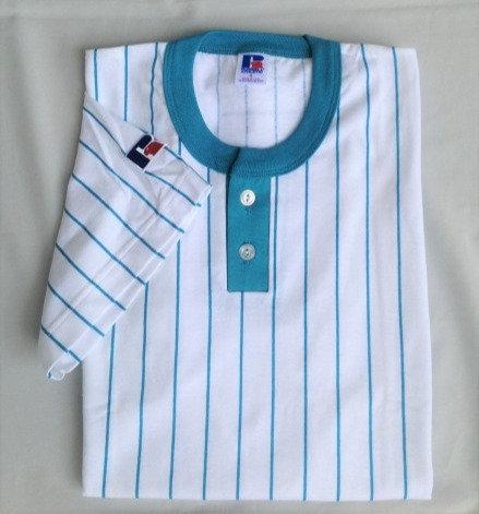 デッドストック Tシャツ RUSSELL ヘンリーネック 80年代