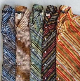 デッドストック 半袖シャツ ポリシャツ サイケデリック