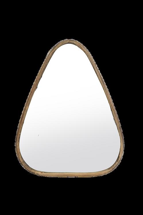 Miroir en bois triangle 70 x 56 cm
