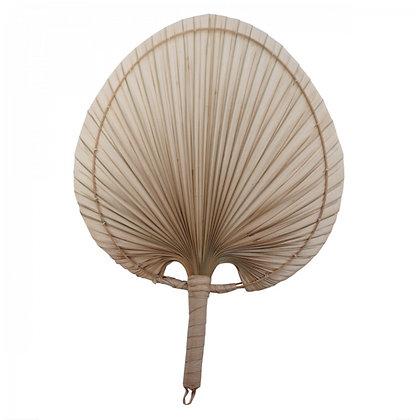Pour Caroline feuille de palmier + support blanc métal