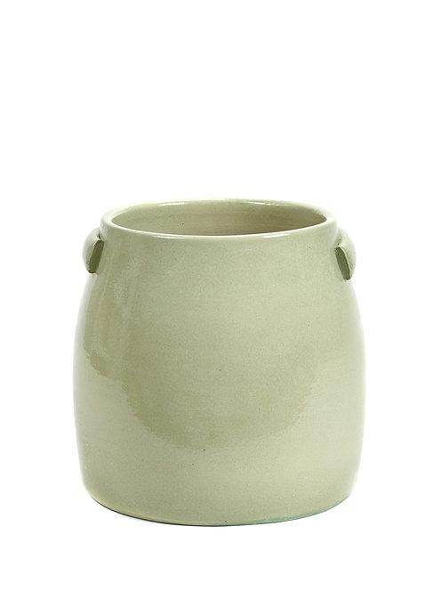Cache-pot vert d'eau
