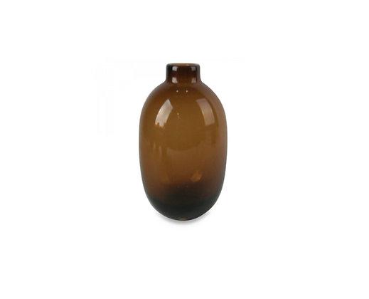 Vase en verre ambré